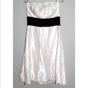 WHBM Dress Size 0 Winter White Strapless NEW
